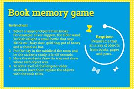 Book memory game