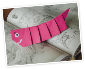 Picture of the origami bookworm