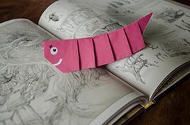 Origami bookworm
