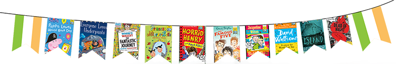 Flags showing the World Book Day books