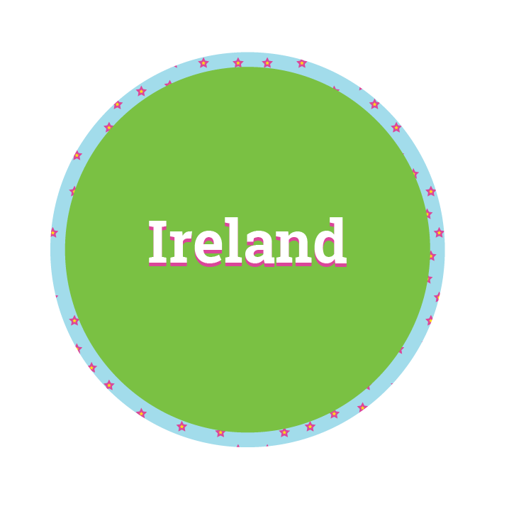 Disc saying Ireland