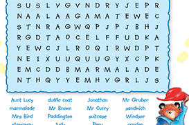 Paddington wordsearch