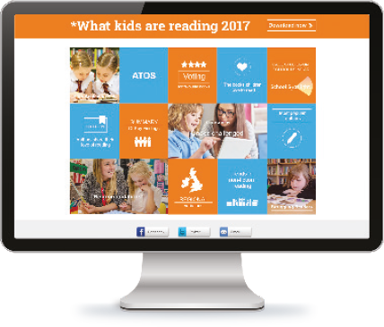 Screen showing What Kids Are Reading 2017