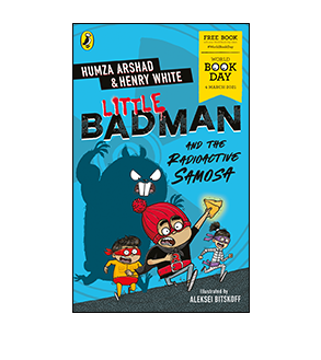 Book cover for Little Badman and the Radioactive Samosa